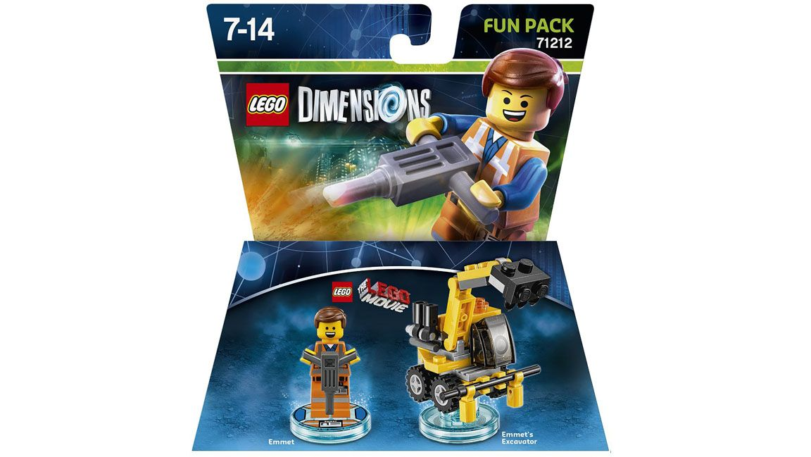 lego dimensions the lego movie fun pack emmett on ps4. Black Bedroom Furniture Sets. Home Design Ideas