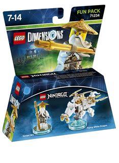 Video Games Lego Dimensions Ninjago Fun Pack - Sensei Wu (White Ninja) on PS4