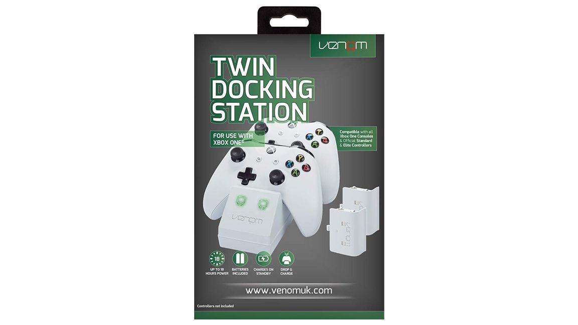Xbox One Twin Docking Station and 2 Rechargeable Battery Packs White