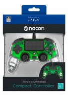 PS4 Officially Licensed Clear Green Nacon Wired Controller... on PS4