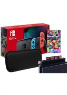 Nintendo Switch Neon Console + Mario Kart 8 + Case + Games H... on Nintendo Switch
