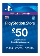 PSN £50 Wallet Top Up Card... on PS4