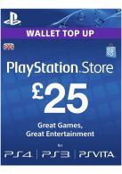 PSN £25 Wallet Top Up Card... on PS4