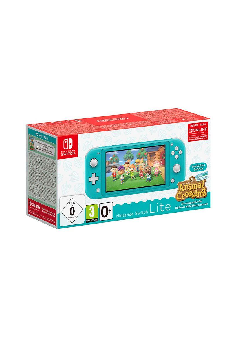 Nintendo Switch Lite Turquoise & Animal Crossing Bundle on ...